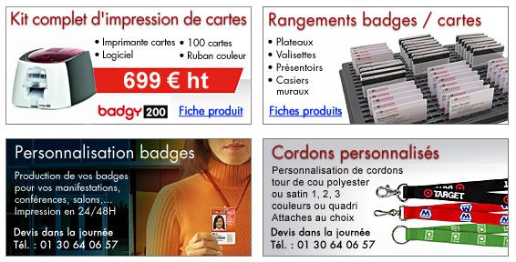 trouver le travail 100% de satisfaction divers design FABRICATION BADGES CARTES PLASTIQUE Paris, porte-badges ...